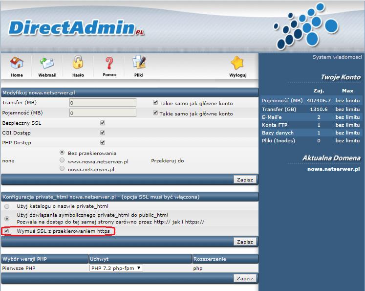 Instalacja certyfikatu SSL Krok 2