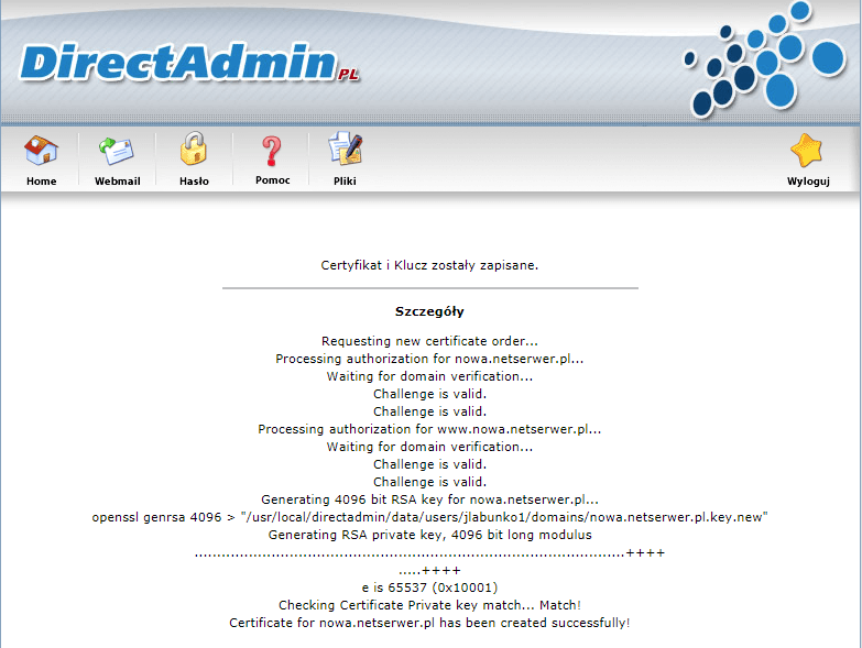 Instalacja certyfikatu SSL Krok 5
