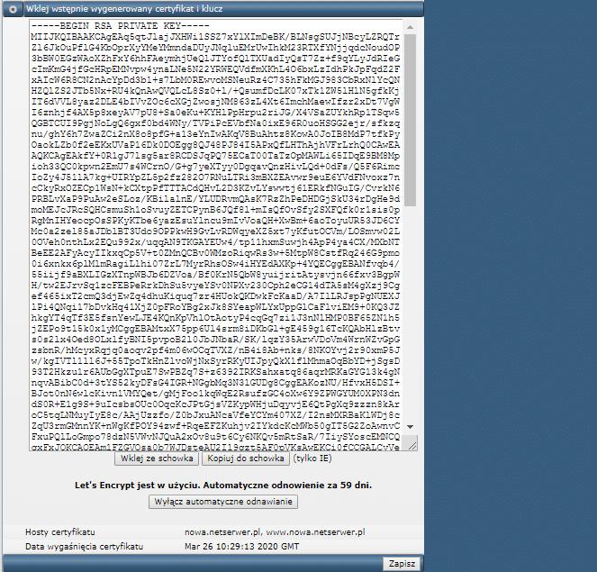 Instalacja certyfikatu SSL Krok 6